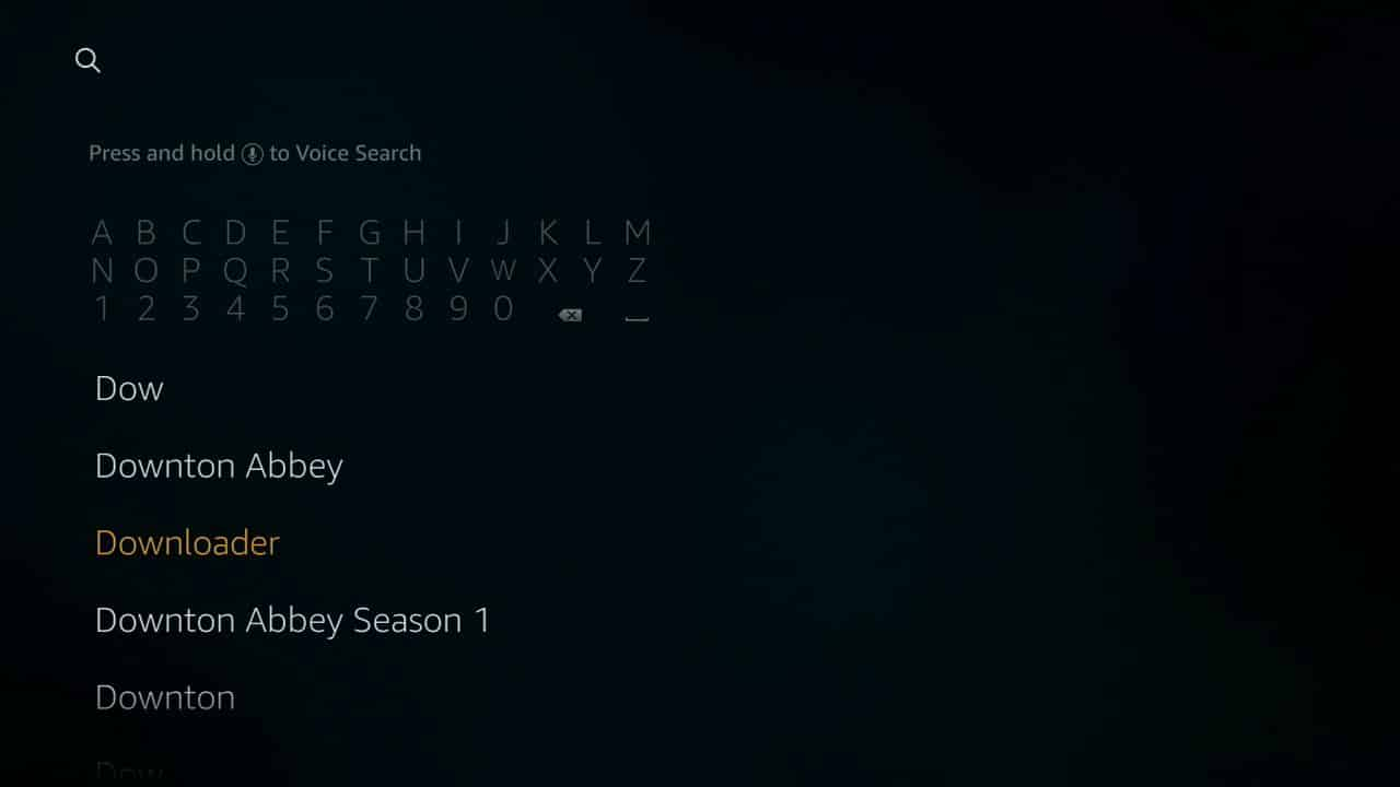 how to install Kodi of firestick step 5,