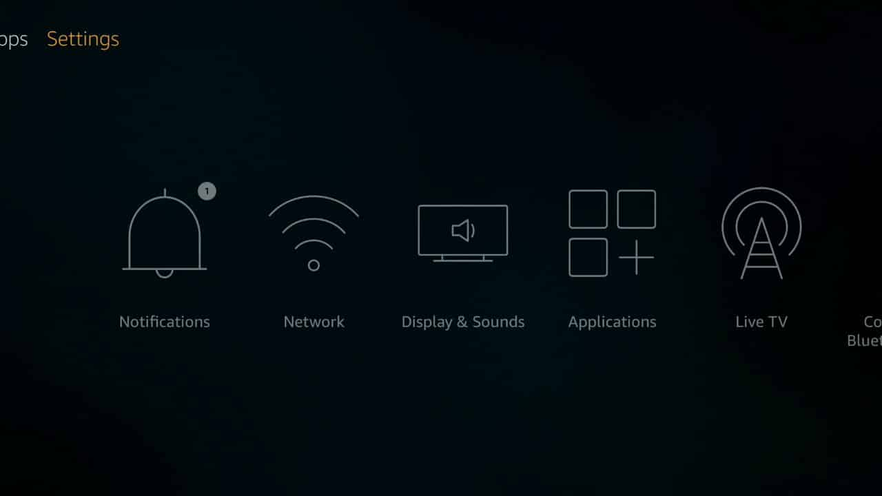 how to install Kodi of firestick step 1,