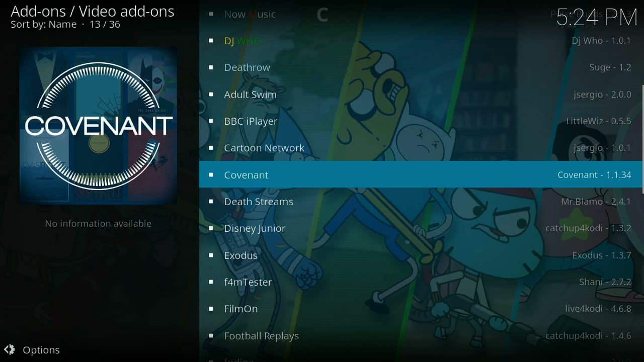 how to install Covenant of firestick step 9,