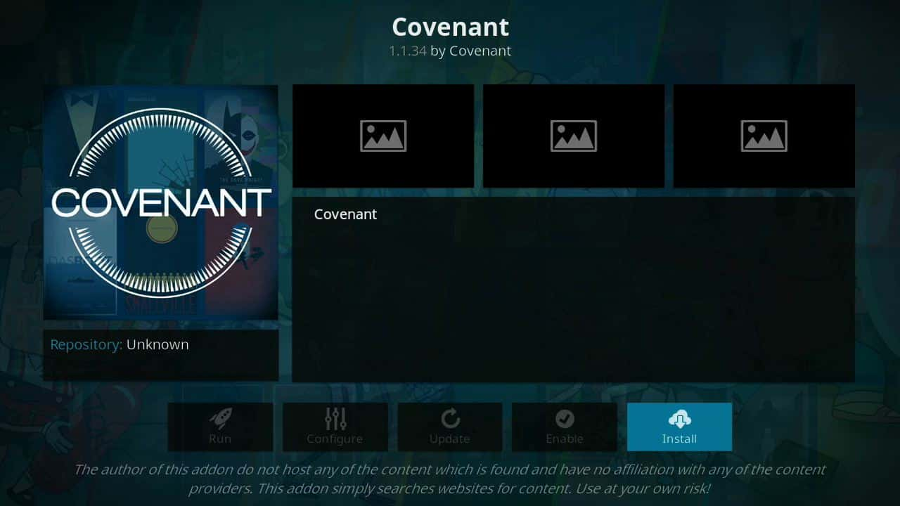 how to install Covenant of firestick step 10,