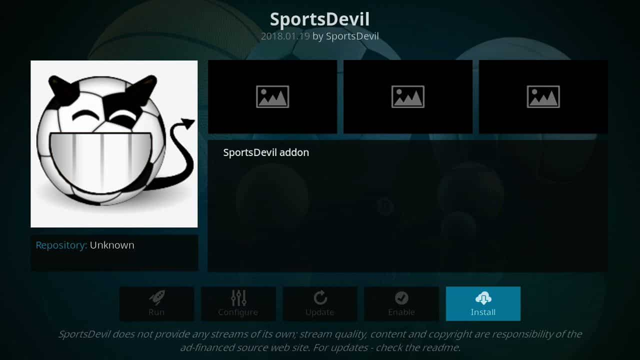 how to install Sports Devil of firestick step 9, step 9 Sports Devil installation guide,stream sports kodi,stream to soccer,watch european soccer online,watch free live sports tv,watch free live sports tv online,watch live soccer streaming free,watch live sports on amazon fire tv